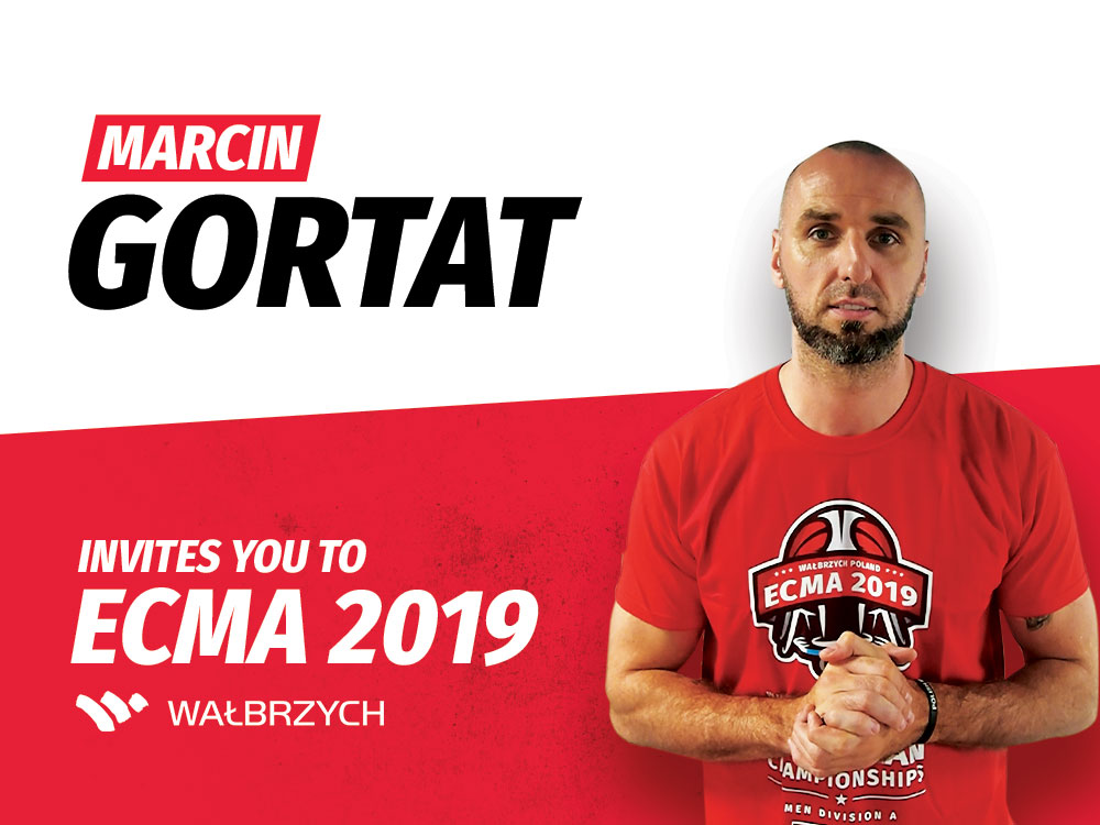 Marcin Gortat zaprasza na ECMA 2019 Wałbrzych